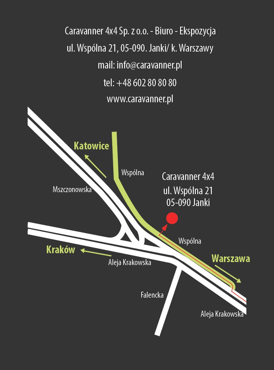Auto Traper, Kamperem przez Świat, mapa dojazdu
